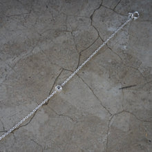 Load image into Gallery viewer, Single stone silver bracelet