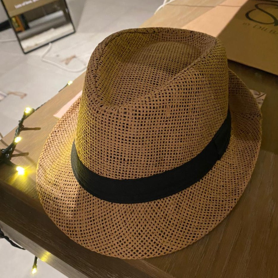 Brown beach hat small