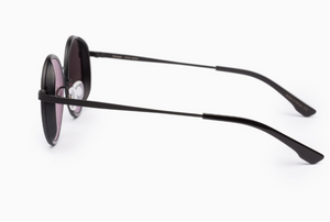 Snap steel round sunglasses