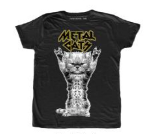 Cat Metal T-Shirt Men