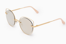 Load image into Gallery viewer, Lotus gold cat-eye sunglasses