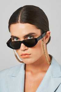 Chunky Monkey yellow gold-plated glasses chain