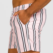 Load image into Gallery viewer, MIAMI PINK STRIPE SWIMWEAR MEN