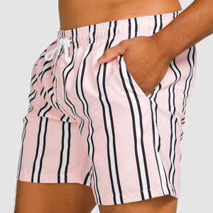 MIAMI PINK STRIPE SWIMWEAR MEN