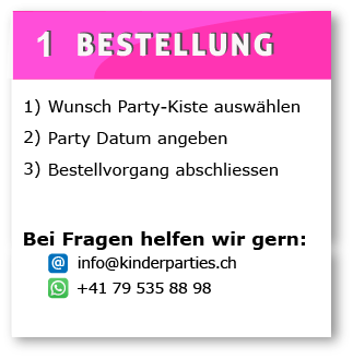 Ablauf Miete Party Kisten kinderparties.ch