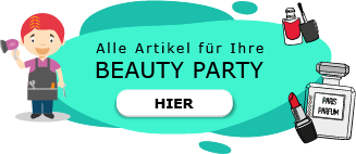 Beauty Party am Kindergeburtstag schminken Glitzertattoos Lippenbalsam DIY