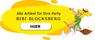 Bibi Blocksberg Motto Party am Kindergeburtstag