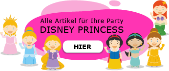 Disney Prinzessinnen Motto Party am Kindergeburtstag