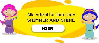 Shimmer and Shine Motto Party am Kindergeburtstag