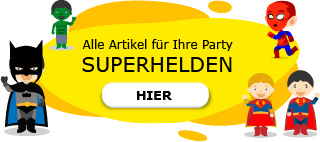 Superhelden Geburtstag Spiderman Batman Supergirl Superman Avengers Motto Party