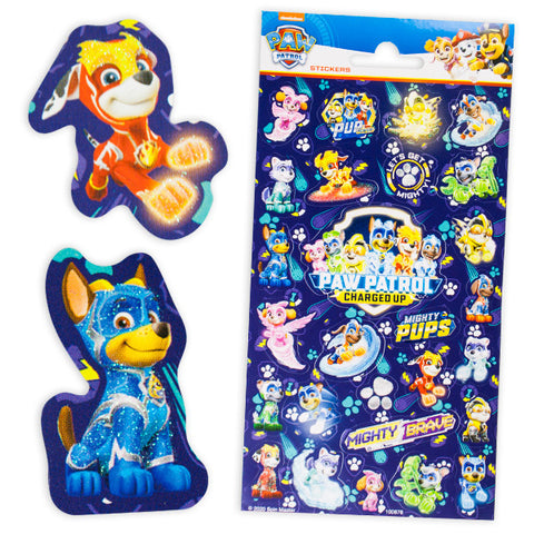 Glitzersticker, Paw  Patrol, NEU, 1 Karte, 27 Sticker, Give-away