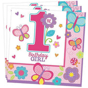 Party Set Basic 1. Geburtstag Sweet Birthday Girl, 8 kids, 32tlg