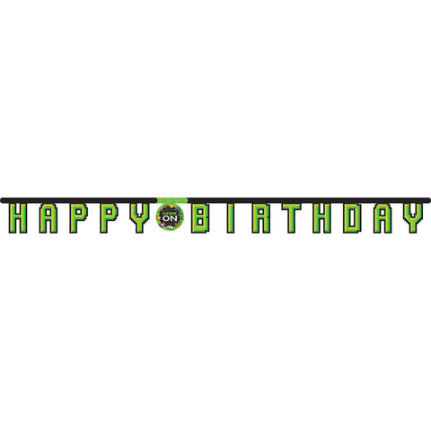 Buchstabenkette Happy Birthday, Gaming Party, 2,1 m