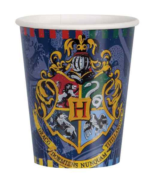 Party Becher Harry Potter, 8 Stk, Pappe, Party Deko Motto-Party am Kindergeburtstag, Geburtstag