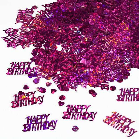 Konfetti glitzernd Happy Birthday in pink, 15g