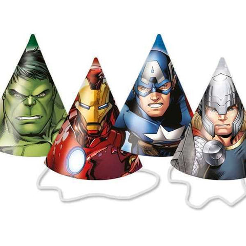 Party Hütchen Avengers Multi Heroes - 6er Pack