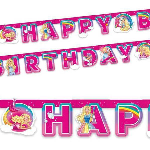 Buchstabenkette Happy Birthday, Barbie Dreamtopia, 2m