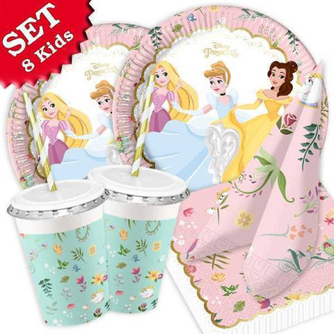 Party Set Basic Disney Prinzessinnen, 64-tlg.