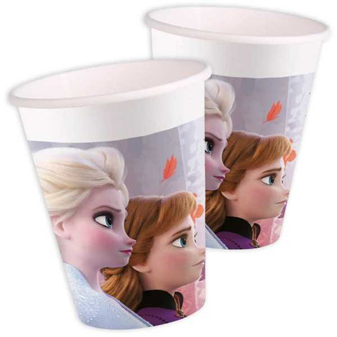 Partybecher Frozen 2, 8er Pack, 200ml, Pappe