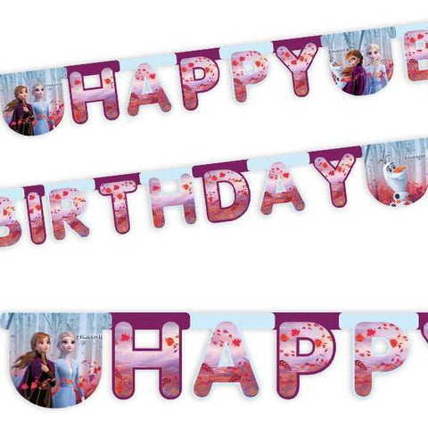 Buchstabenkette Happy Birthday, Frozen 2, 2m