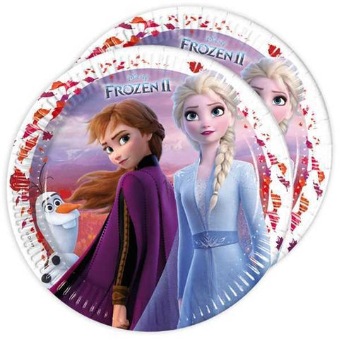 Party Teller Frozen 2, 8er Pack, 23cm, Party Deko Motto-Party am Kindergeburtstag, Geburtstag