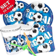 Party Set  Basic Fussball, für 10 Kinder, 60-tlg