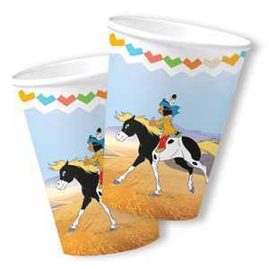 Party Becher Indianer Yakari, 8er Pack, Pappe