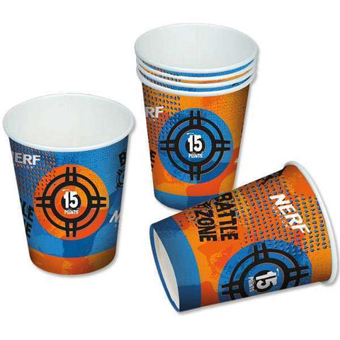 Party Becher, Nerf, 6er Pack, Pappe, 200ml