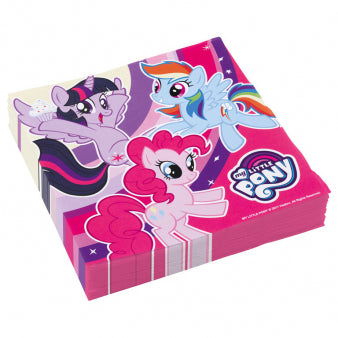 Servietten My Little Pony, 20er Pack, 33x33 cm, Party Deko Motto-Party am Kindergeburtstag, Geburtstag