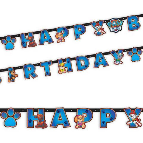 Buchstabenkette Happy Birthday, Paw Patrol 2019, 2.4 m, Party Deko Motto-Party am Kindergeburtstag, Geburtstag