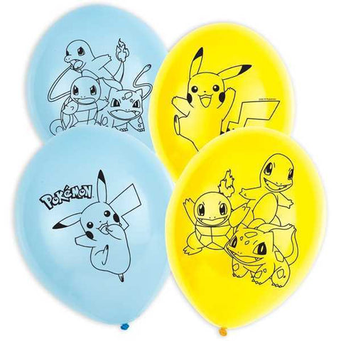 Luftballons, Pokemon, 6er Pack