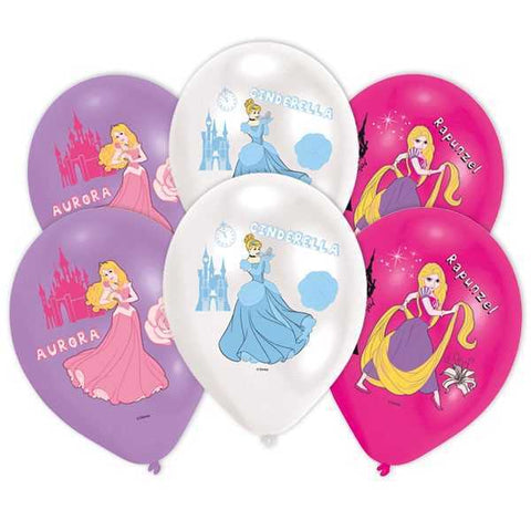 Luftballons, Disney Princess, 6er Pack