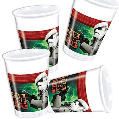 Party Becher Star Wars Rebels, 8er Pack, Plastik