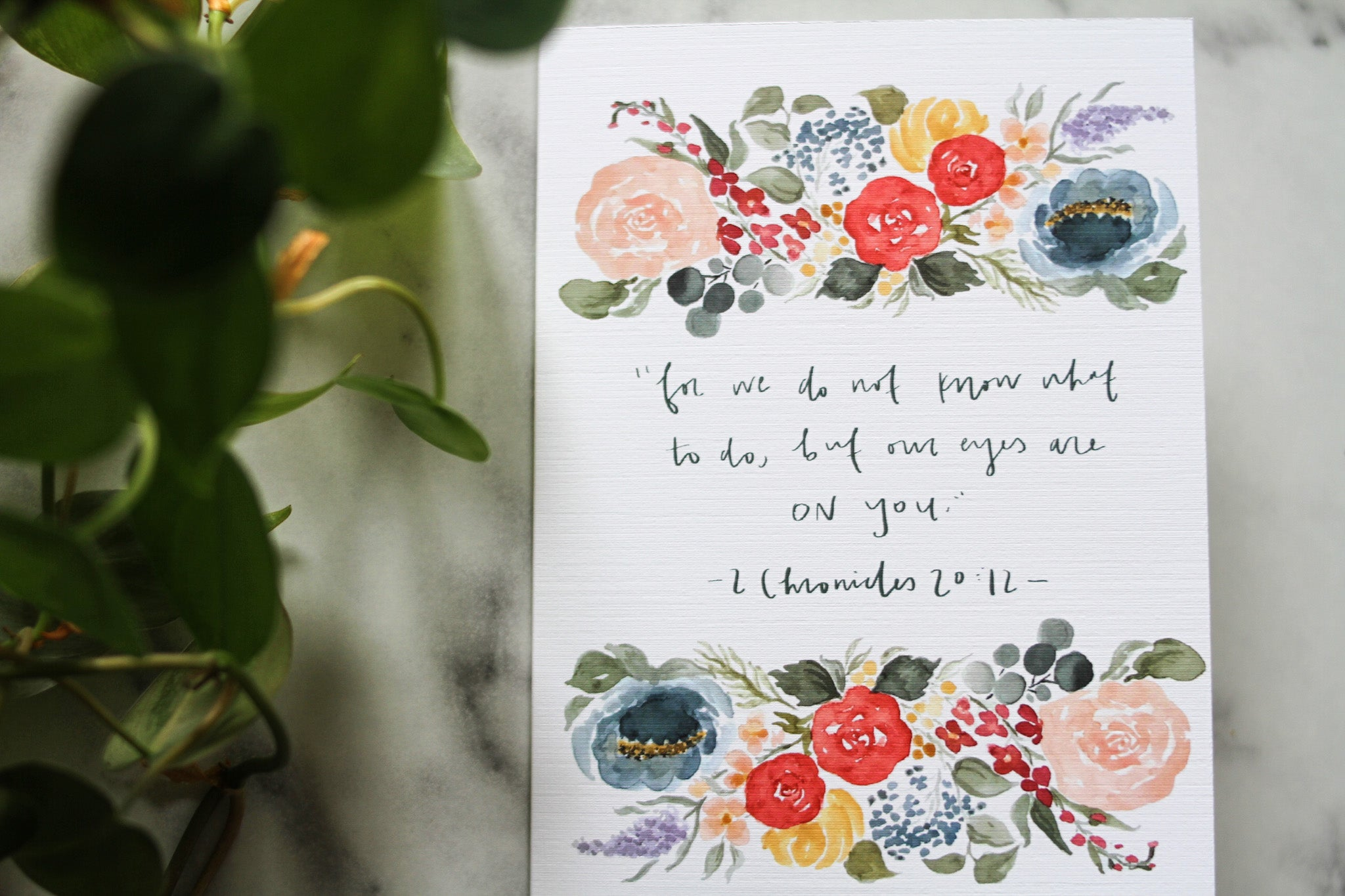 But our eyes encouragement card
