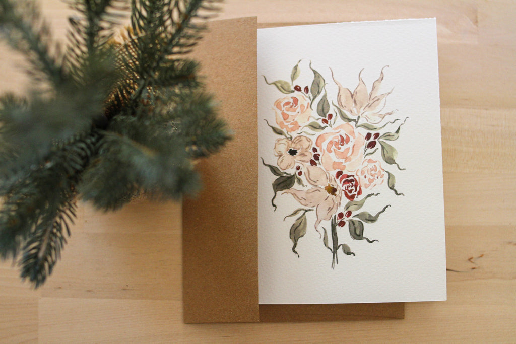 Lily Holiday Stationery Card