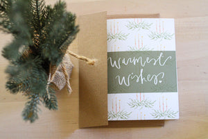 """Warmest Wishes"" Embellished Card"