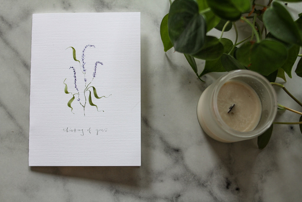 "Lavender ""thinking of you"" card"