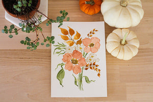 Autumn Poppies Mini Original