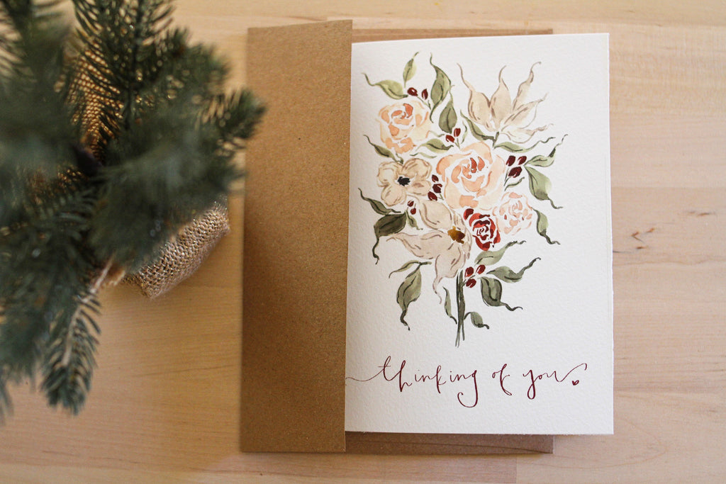 """Thinking of You"" Sympathy Card"