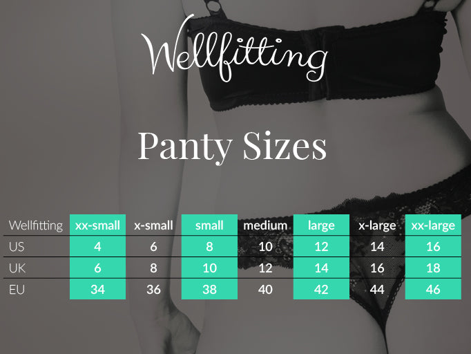 International panties size conversion charts