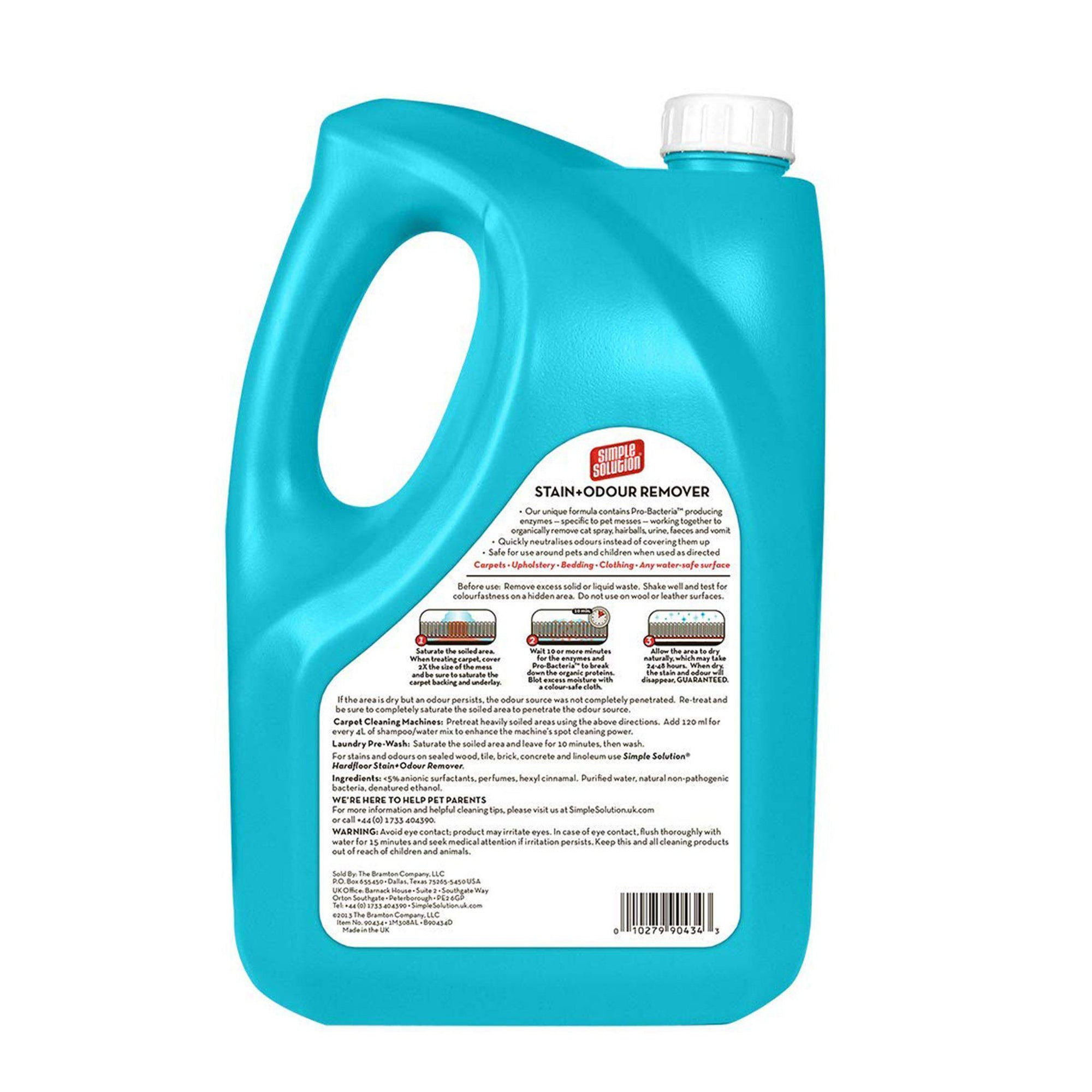 Simple Solution Cat Stain & Odour Remover 4l - ComfyPet Products