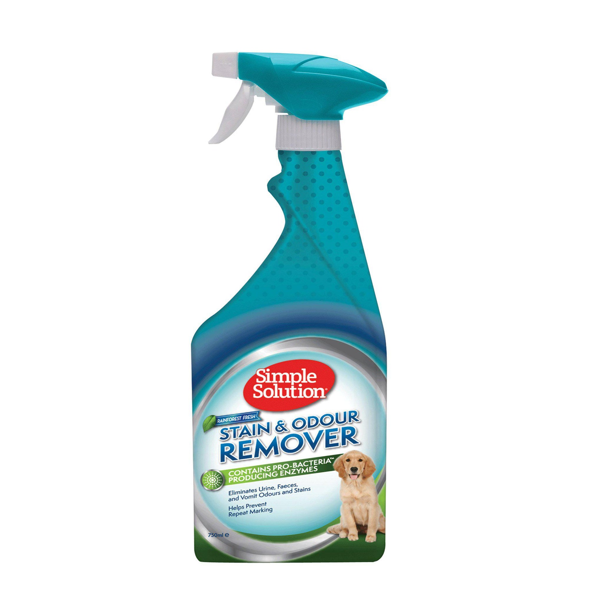 Simple Solution Dog Stain & Odour Remover 750ml - Rain Forest - ComfyPet Products