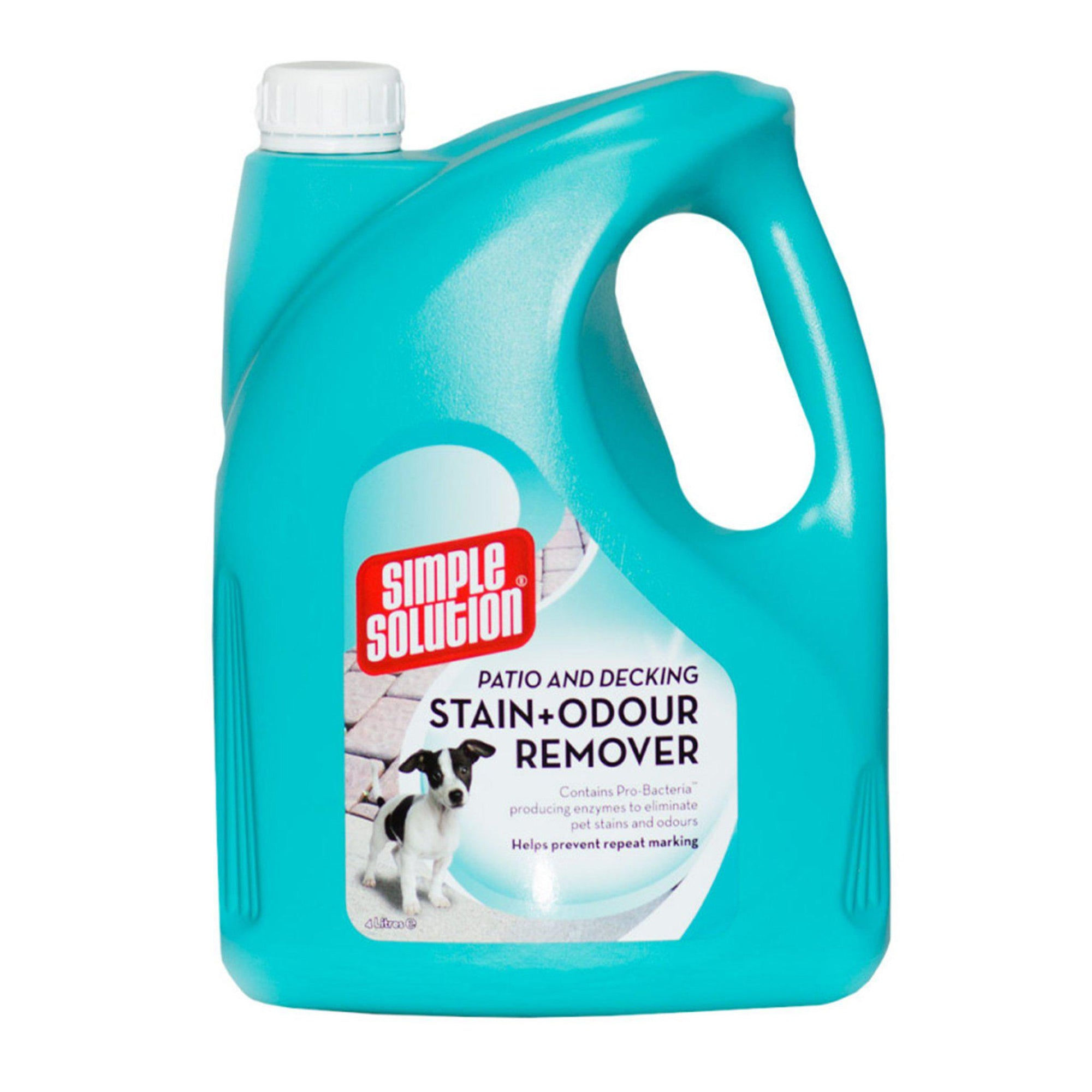 Simple Solution Dog & Cat Patio & Decking Stain & Odour Remover 4l - ComfyPet Products