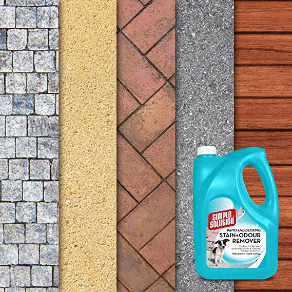 Simple Solution Dog & Cat Patio & Decking Stain & Odour Remover 4l