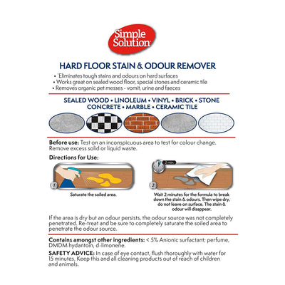 Simple Solution Hardfloor Stain & Odour Remover 750ml - ComfyPet Products