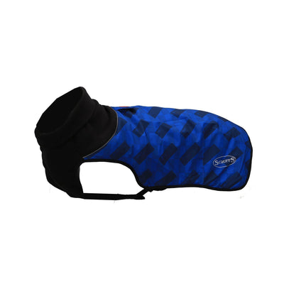 Scruffs Thermal Dog Coat - Navy Block - ComfyPet Products