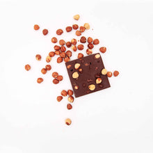 Load image into Gallery viewer, Hazelnuts and Cacao Nibs Chocolate Bar