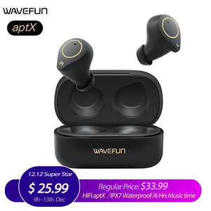 Wavefun Xpods3 Wireless Headphones Bluetooth Earphone Ipx7 Waterproof Worthwhilegadgets Com