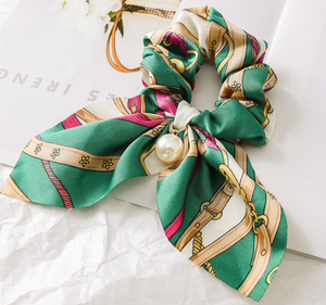 Silk Scarf Tie-Up Scrunchie