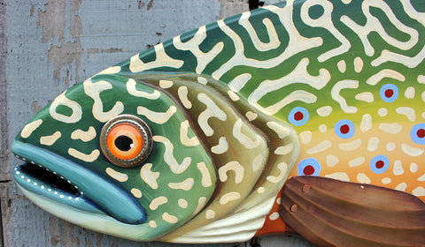 "37"" Brook Trout, Large Fish wall art"